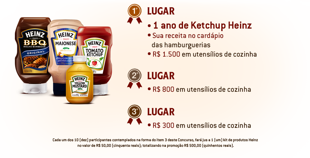 Prêmios do concurso Heinz Burger