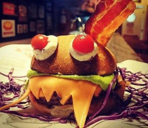 Burger do Halloween 2016 no Big Kahuna Burger